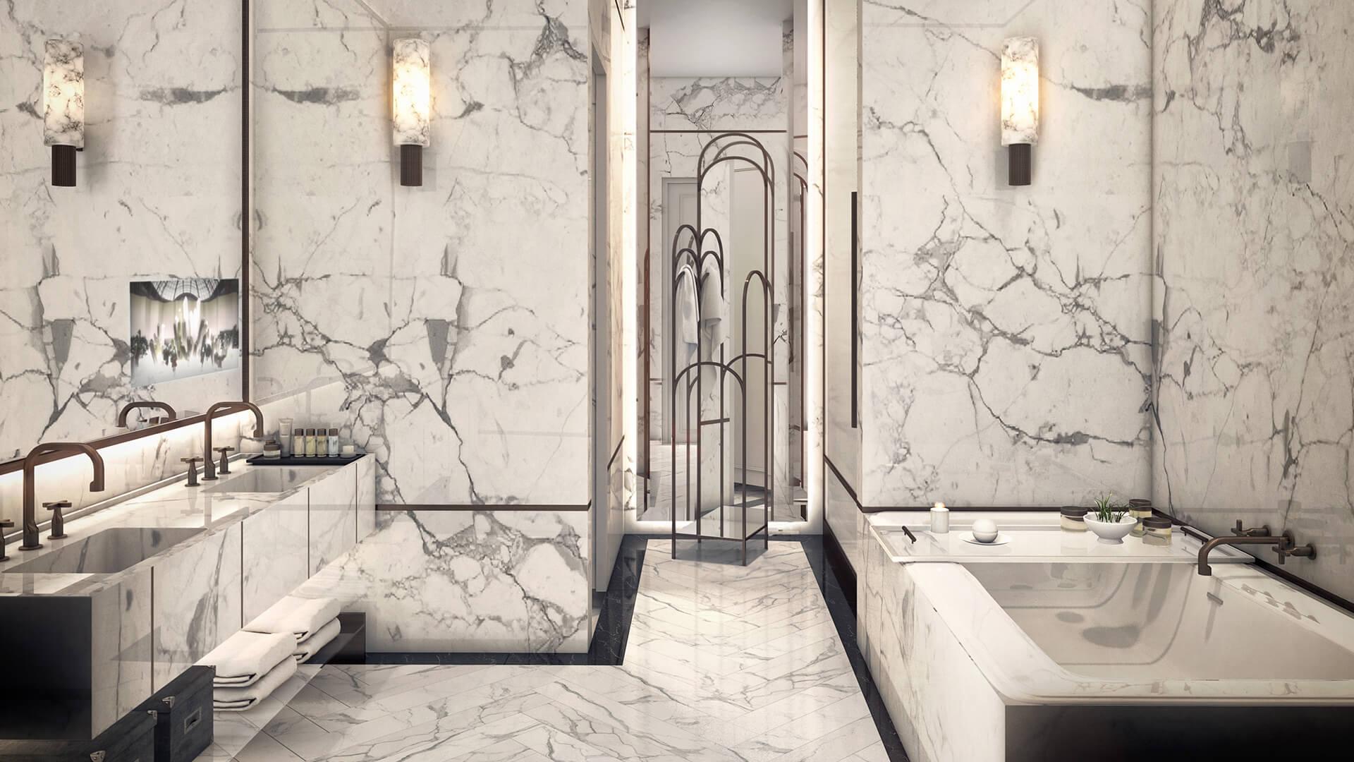 Интерьер ванной Rockwell Group