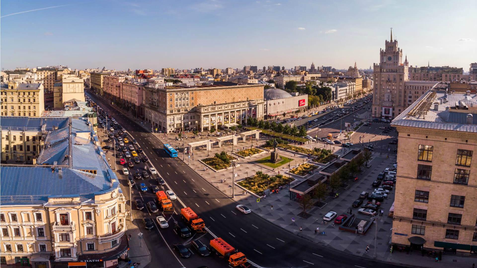 Вид на Площадь Маяковского