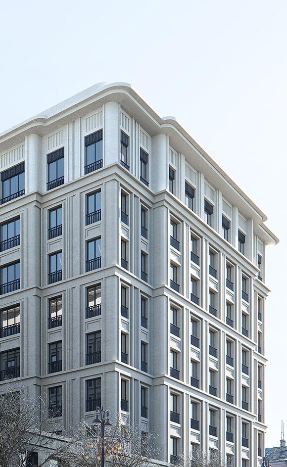 Вид на пентхаус на 9 этаже жк FAIRMONT