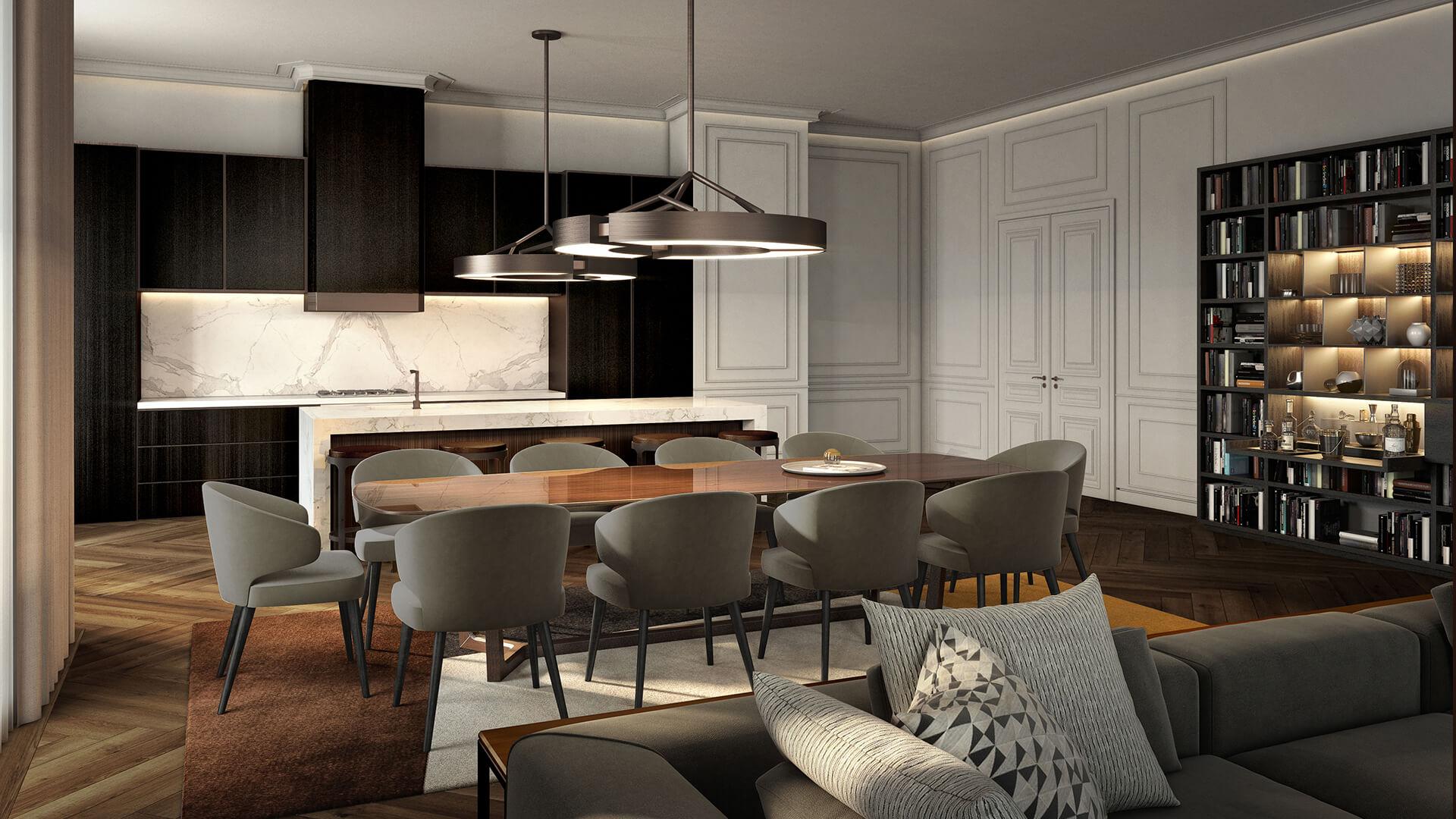 Интерьер апартаментов ЖК Fairmont